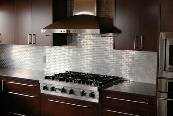 Stainless-Steel-Tile-Backsplash